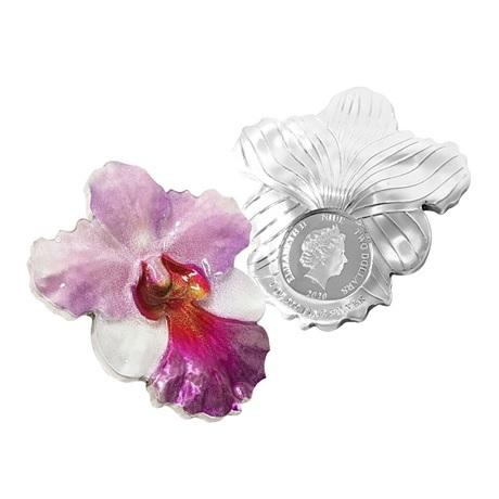 (W160.200.2020.1.oz.Ag.6) 2 Dollars Niue 2020 1 oz Ag BE - Orchidée