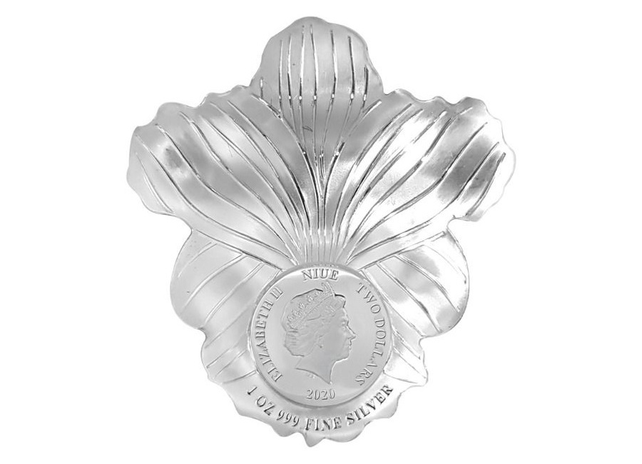 (W160.200.2020.1.oz.Ag.6) 2 Dollars Niue 2020 1 oz Proof silver - Orchid Obverse (zoom)