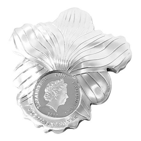 (W160.200.2020.1.oz.Ag.6) 2 Dollars Niue 2020 1 oz argent BE - Orchidée Avers