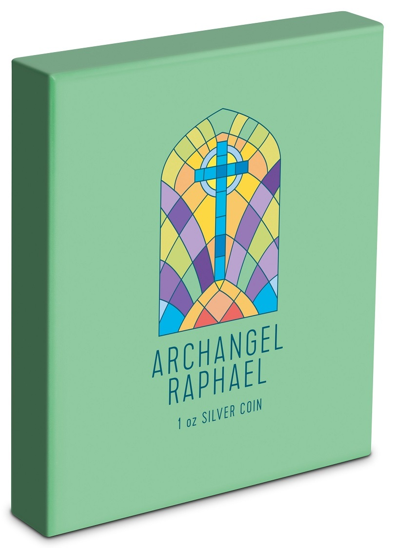 (W160.200.2020.30-00971) 2 Dollars Niue 2020 1 oz Proof Ag - Archangel Raphael (box) (zoom)
