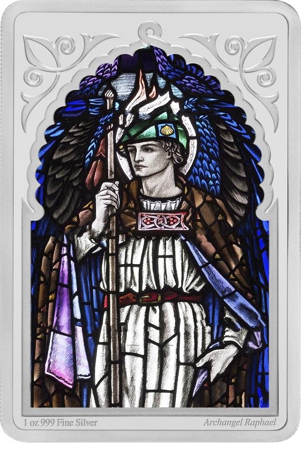 (W160.200.2020.30-00971) 2 Dollars Niue 2020 1 oz Proof silver - Archangel Raphael Reverse (zoom)