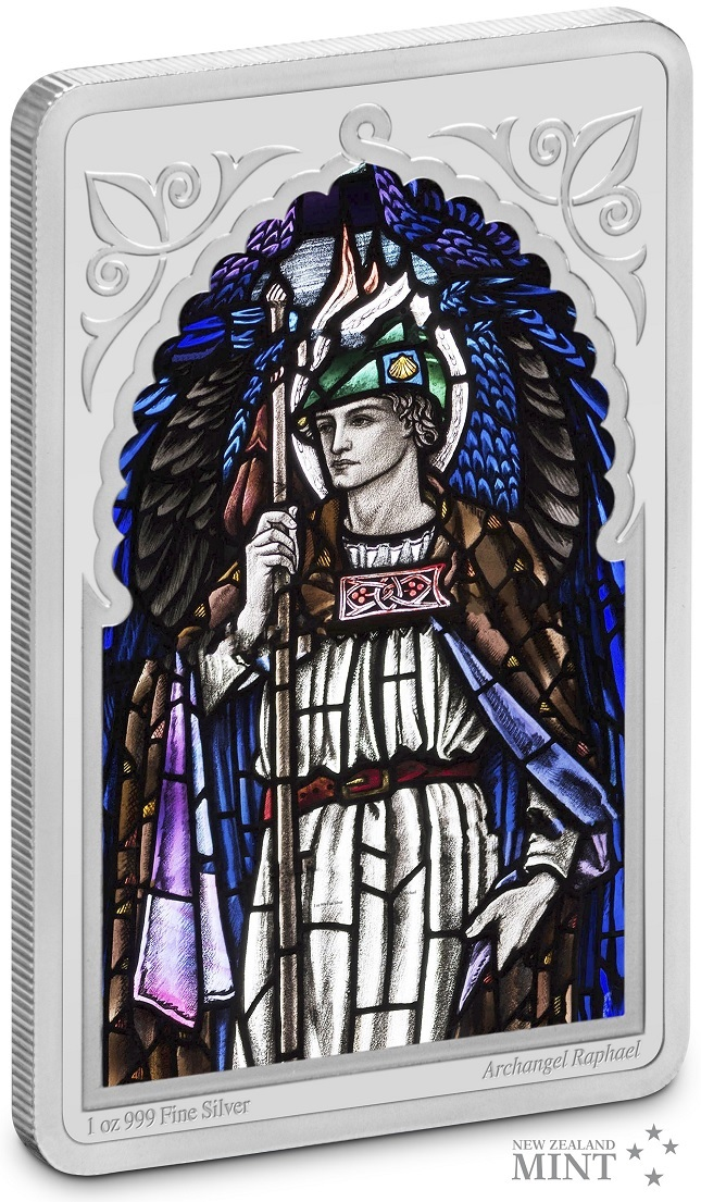 (W160.200.2020.30-00971) 2 Dollars Niue 2020 1 oz Proof silver - Archangel Raphael (edge) (zoom)