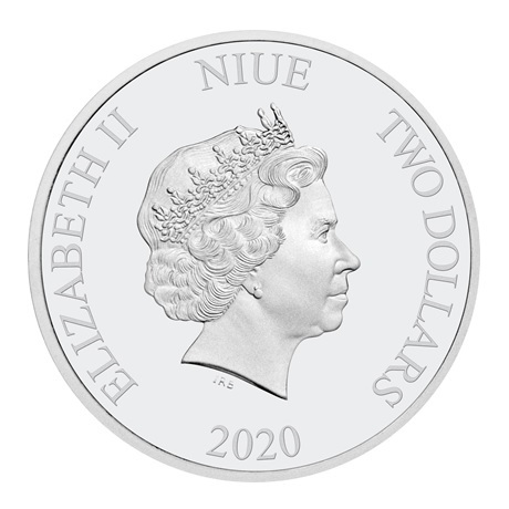 (W160.200.2020.30-00989) 2 Dollars Niue 2020 1 once argent BE - Voeux fin année Avers