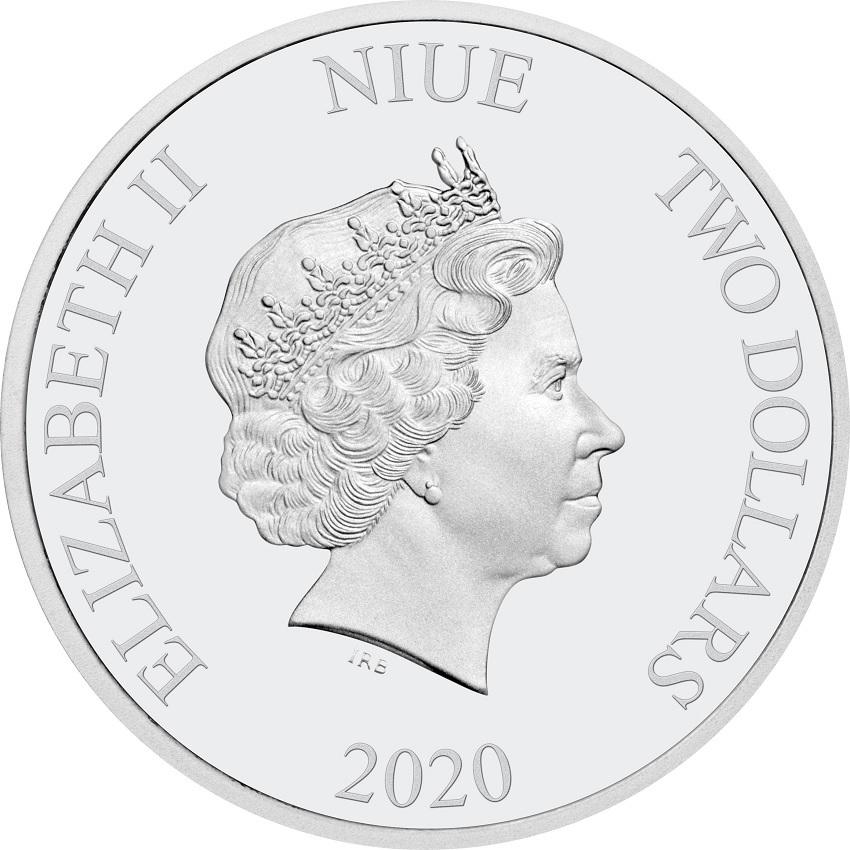 (W160.200.2020.30-00989) 2 Dollars Niue 2020 1 oz Proof silver - Season's Greetings Obverse (zoom)
