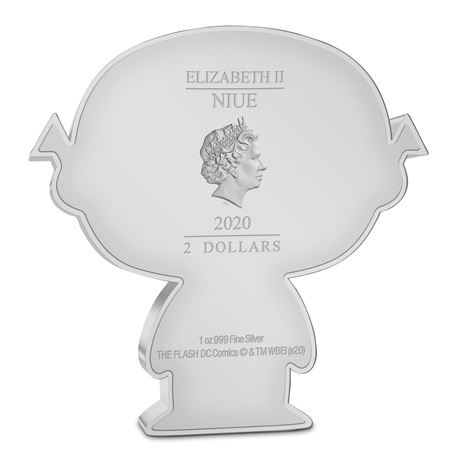 (W160.200.2020.30-01002) 2 Dollars Niue 2020 1 once argent BE - Chibi Flash Avers