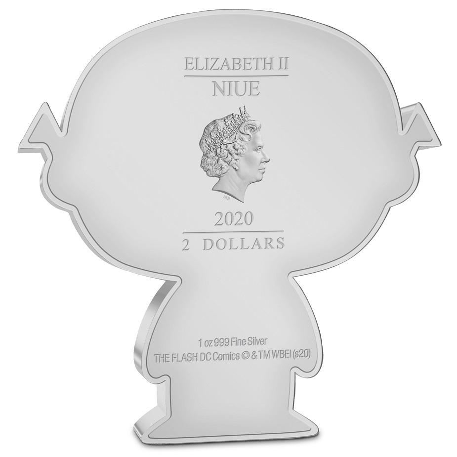 (W160.200.2020.30-01002) 2 Dollars Niue 2020 1 oz Proof silver - Chibi The Flash Obverse (zoom)