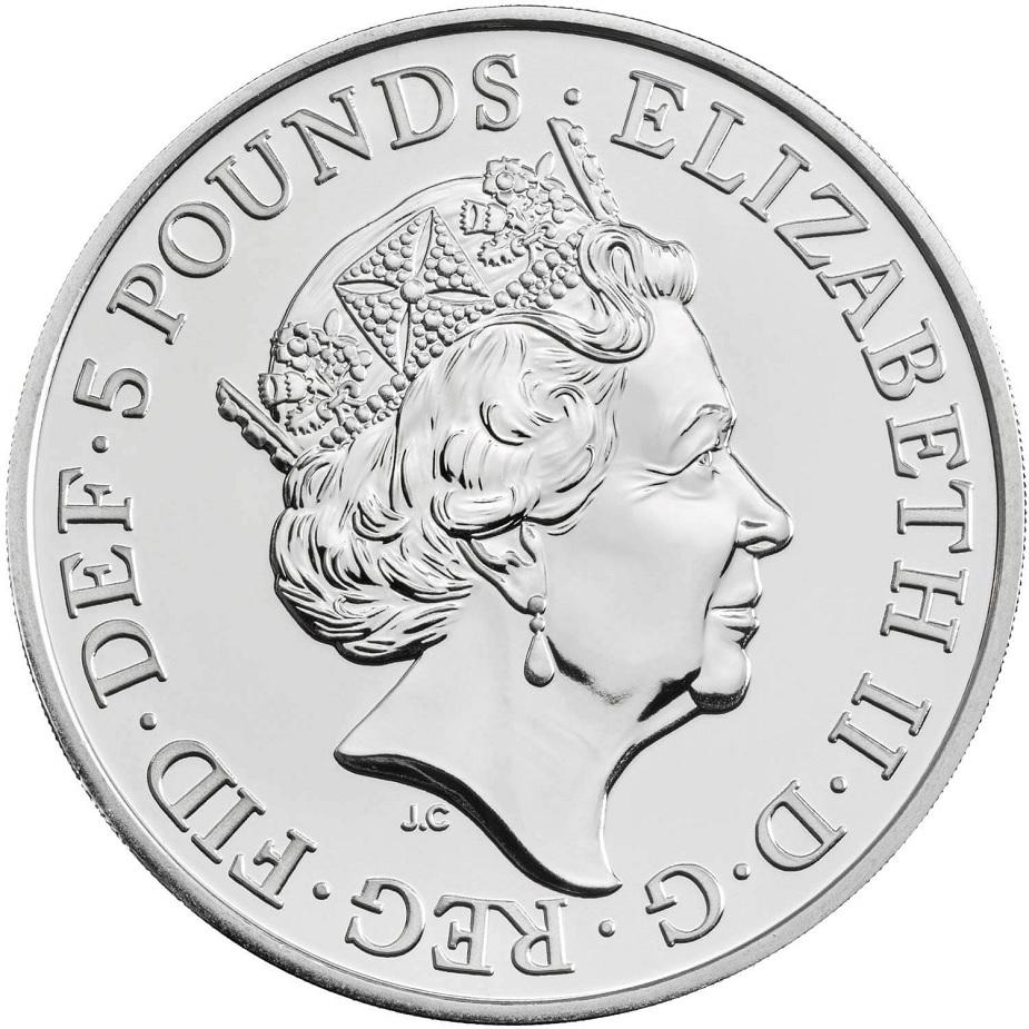 (W185.500.2020.UK20EWBU) 5 Pounds Peace 2020 BU Obverse (zoom)