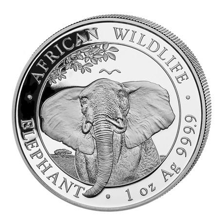 (W203.10000.2021.1.oz.Ag.1) 100 Shillings Somalie 2021 1 once argent - Eléphant Revers