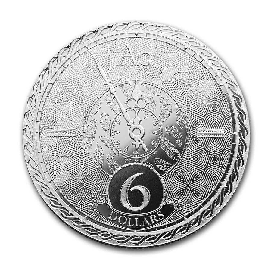 (W221.1.600.2020.1.oz.Ag.1) 6 Dollars Tokelau 2020 1 oz silver - Chronos Reverse (zoom)