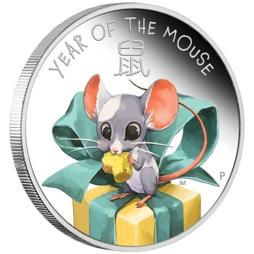 (W228.1.50.C.2020.20G20AAA) 50 Cents Tuvalu 2020 0.50 oz Proof silver - Baby Mouse Reverse (zoom)
