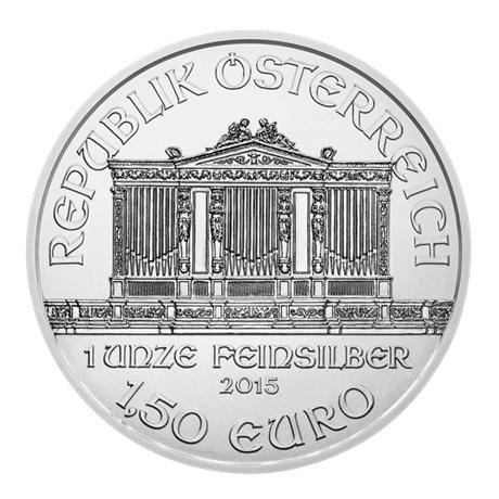 (EUR01.150.2015.21374) 1,50 euro Autriche 2015 1 once argent - Philharmonique Avers