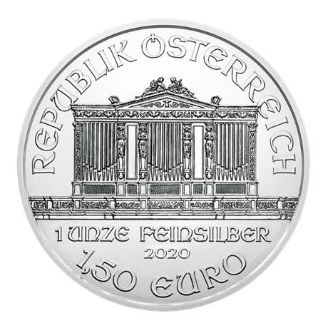 (EUR01.150.2020.24965) 1,50 euro Autriche 2020 1 once argent - Philharmonique Avers