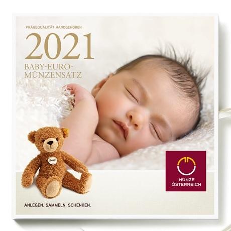 (EUR01.CofBU&FDC.2021.24614) Coffret BU Autriche 2021 - Naissance
