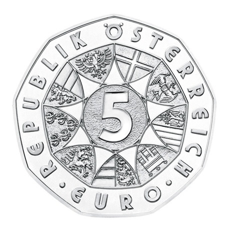 (EUR01.ComBU&BE.2021.24612) 5 euro Autriche 2021 argent BU - Janus Avers