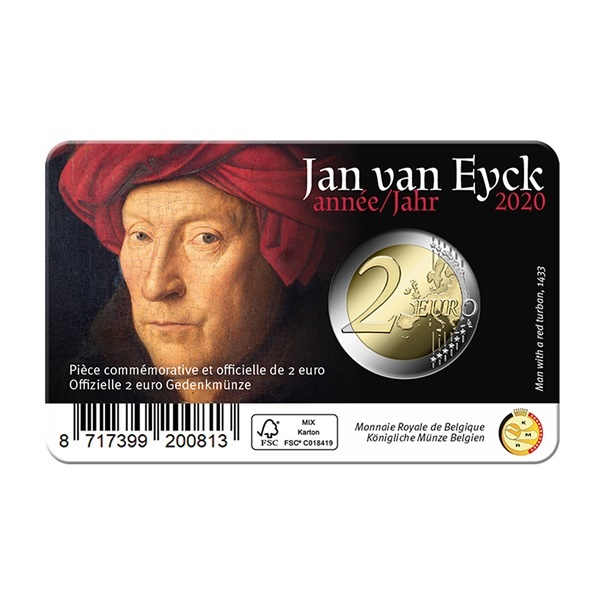 (EUR02.ComBU&BE.2020.0108814) 2 euro Belgium 2020 BU - Jan Van Eyck - Flemish legend Back (zoom)