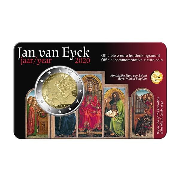 (EUR02.ComBU&BE.2020.0108814) 2 euro Belgium 2020 BU - Jan Van Eyck - Flemish legend Front (zoom)