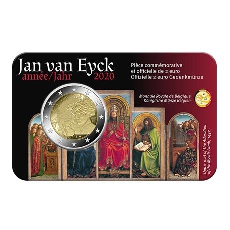 (EUR02.ComBU&BE.2020.0108815) 2 euro Belgique 2020 BU - Jan Van Eyck - Légende française Recto