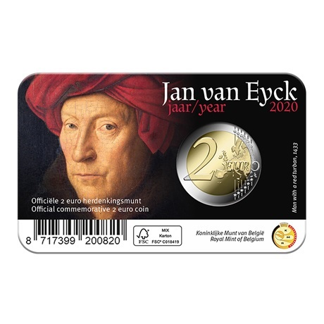(EUR02.ComBU&BE.2020.0108815) 2 euro Belgique 2020 BU - Jan Van Eyck - Légende française Verso