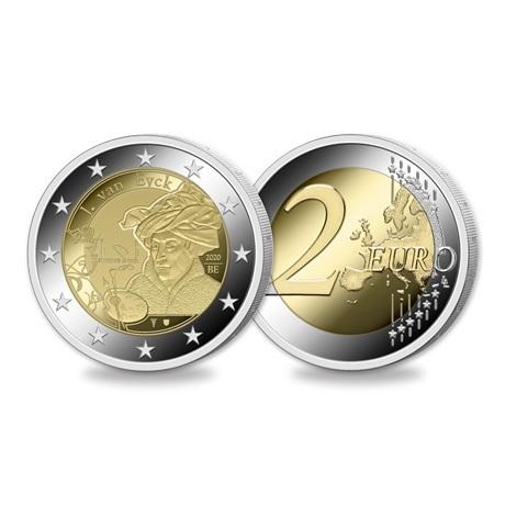 (EUR02.ComBU&BE.2020.0108815) 2 euro Belgique 2020 BU - Jan Van Eyck - Légende française