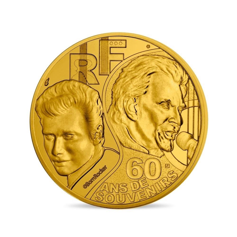 (EUR07.025.2020.10041349360000) 0.25 euro France 2020 - Johnny Hallyday Obverse (zoom)