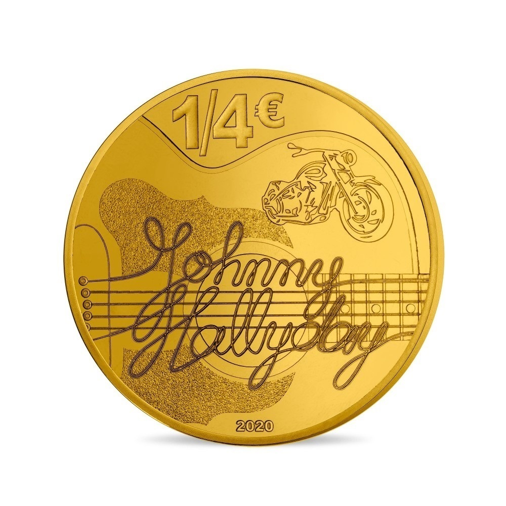 (EUR07.025.2020.10041349360000) 0.25 euro France 2020 - Johnny Hallyday Reverse (zoom)