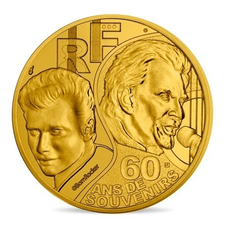 (EUR07.025.2020.10041349360000) 0,25 euro France 2020 - Johnny Hallyday Avers