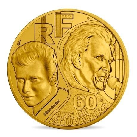(EUR07.025.2020.10041349360000) 0,25 euro France 2020 - Johnny Hallyday Avers