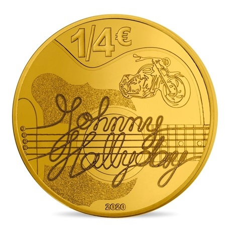 (EUR07.025.2020.10041349360000) 0,25 euro France 2020 - Johnny Hallyday Revers