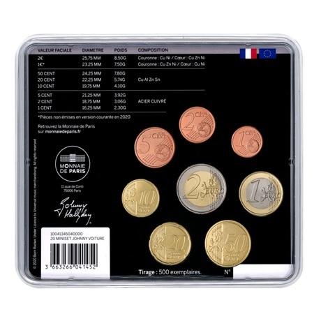 (EUR07.CofBU&FDC.2020.10041345040000) Mini-set BU France 2020 - Johnny Hallyday en voiture Verso