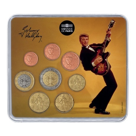 (EUR07.CofBU&FDC.2020.10041349400000) Mini-set BU France 2020 - Johnny Hallyday et sa guitare Recto