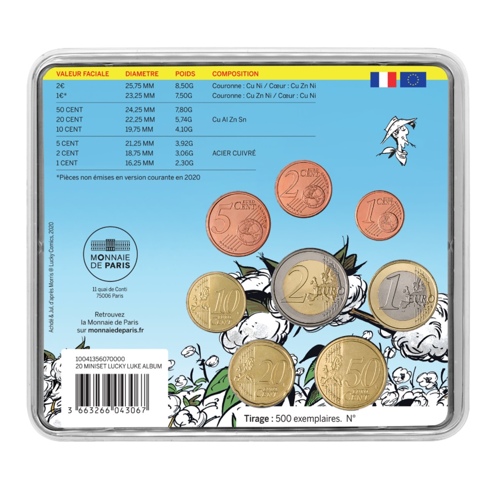(EUR07.CofBU&FDC.2020.10041356070000) BU mini-set France 2020 - Lucky Luke Back (zoom)