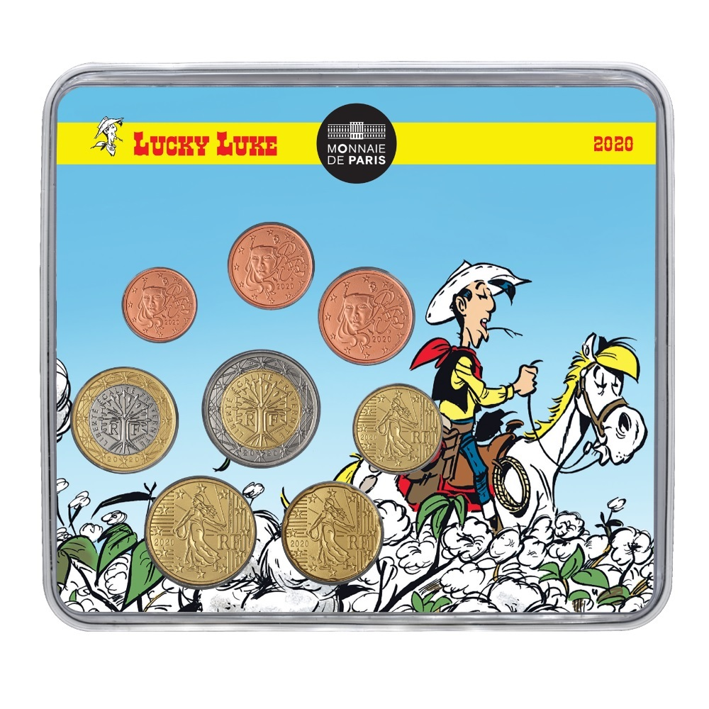 (EUR07.CofBU&FDC.2020.10041356070000) BU mini-set France 2020 - Lucky Luke Front (zoom)