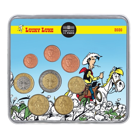 (EUR07.CofBU&FDC.2020.10041356070000) Mini-set BU France 2020 - Lucky Luke Recto