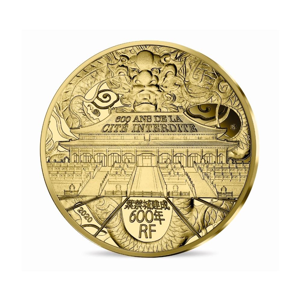 (EUR07.ComBU&BE.2020.10041344050000) 50 euro France 2020 Proof Au - Forbidden City Obverse (zoom)