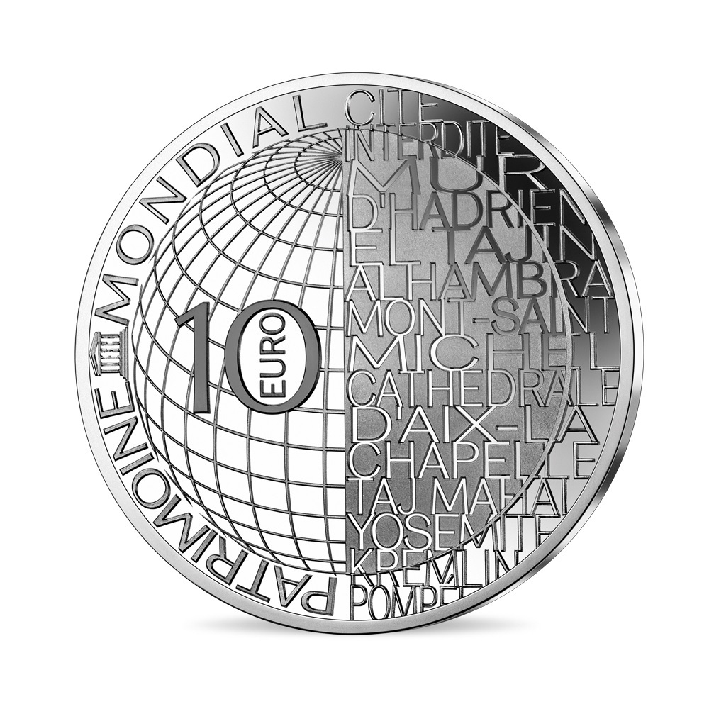 (EUR07.ComBU&BE.2020.10041344060000) 10 euro France 2020 Proof Ag - Forbidden City Reverse (zoom)