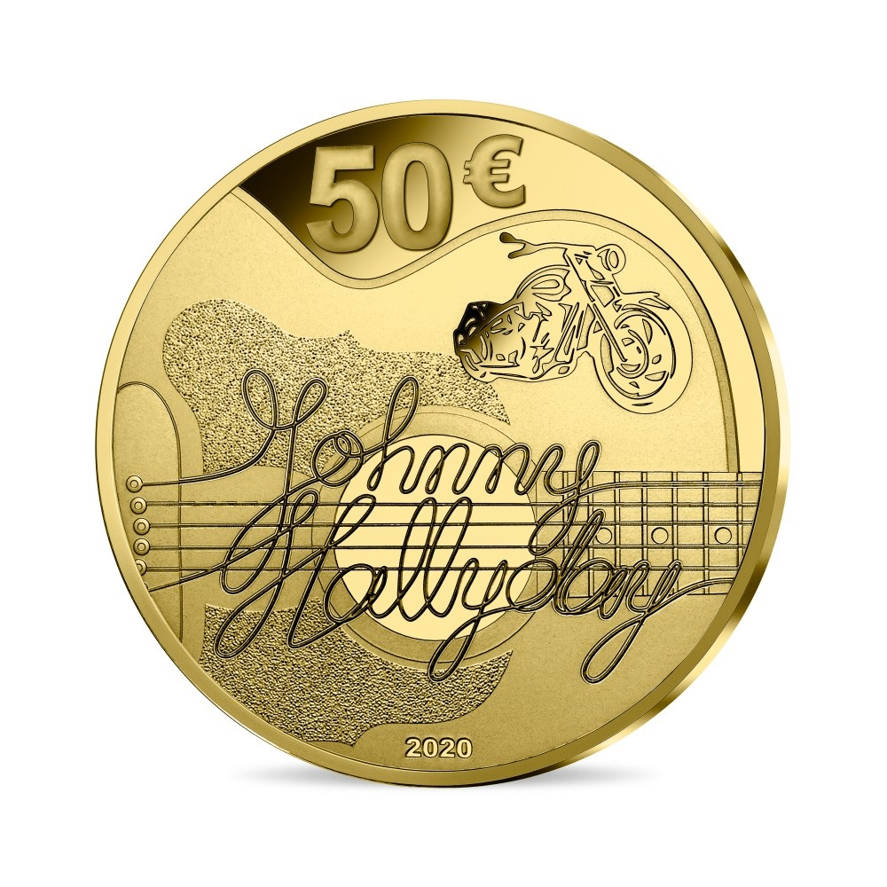 (EUR07.ComBU&BE.2020.10041344280000) 10 euro France 2020 Proof Au - Johnny Hallyday Reverse (zoom)