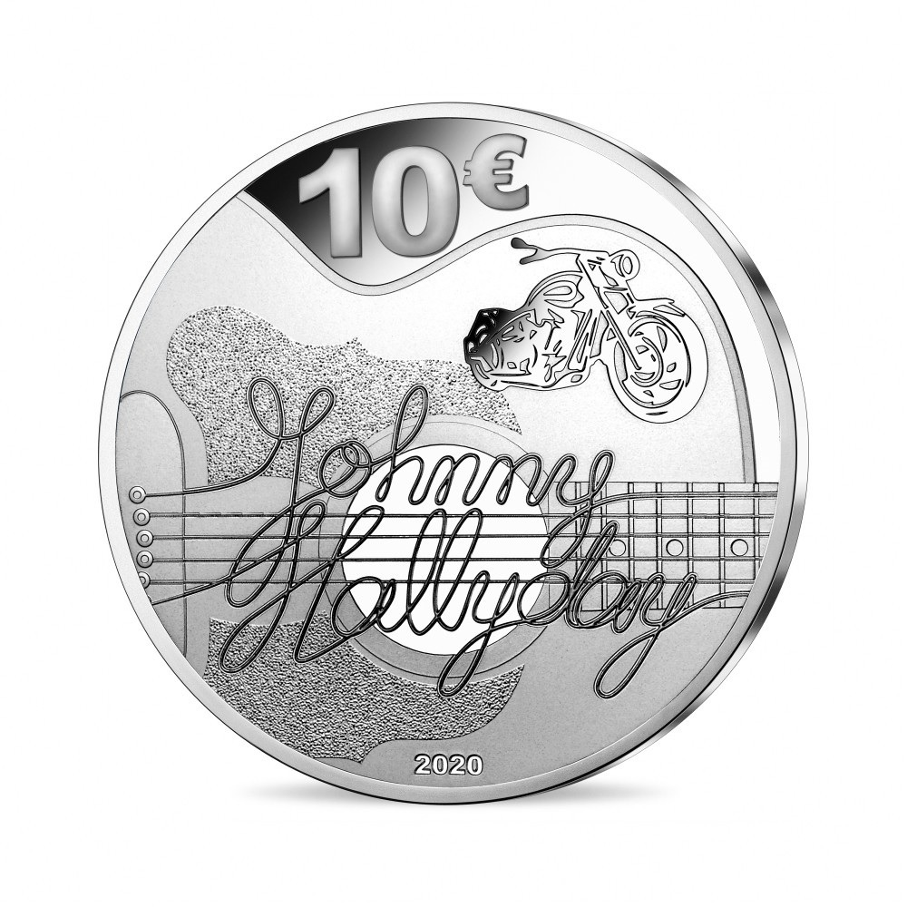 (EUR07.ComBU&BE.2020.10041344290000) 10 euro France 2020 Proof silver - Johnny Hallyday Reverse (zoom)