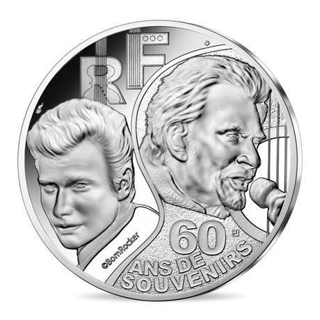(EUR07.ComBU&BE.2020.10041344290000) 10 euro France 2020 argent BE - Johnny Hallyday Avers