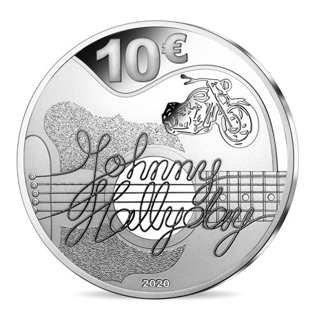 (EUR07.ComBU&BE.2020.10041344290000) 10 euro France 2020 argent BE - Johnny Hallyday Revers