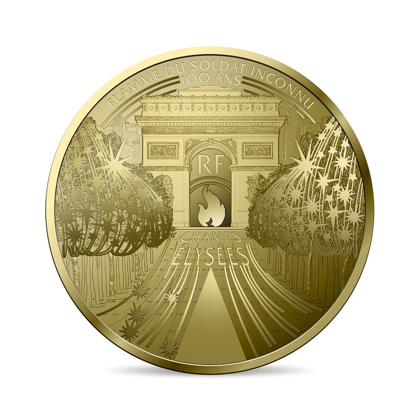(EUR07.ComBU&BE.2020.10041344340000) 50 euro France 2020 Proof Au - The Champs Elysées Obverse (zoom)