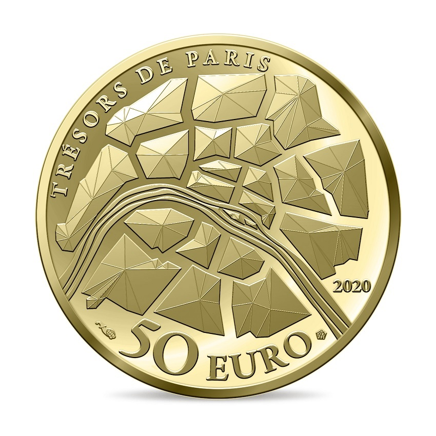 (EUR07.ComBU&BE.2020.10041344340000) 50 euro France 2020 Proof Au - The Champs Elysées Reverse (zoom)