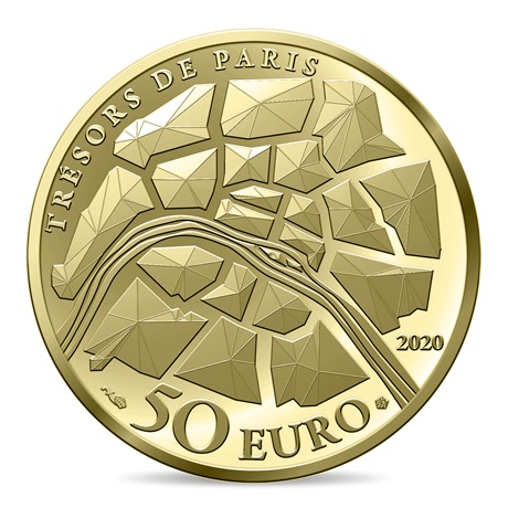 (EUR07.ComBU&BE.2020.10041344340000) 50 euro France 2020 or BE - Champs Elysées Revers