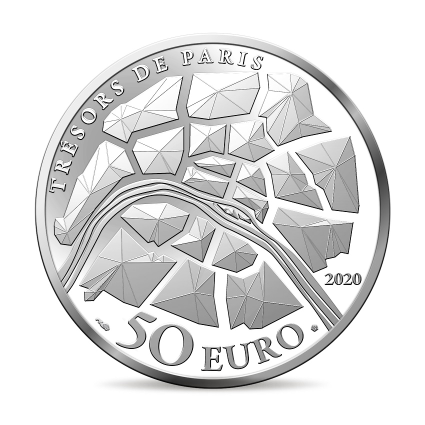 (EUR07.ComBU&BE.2020.10041344350000) 50 euro France 2020 Proof Ag - The Champs Elysées Reverse (zoom)