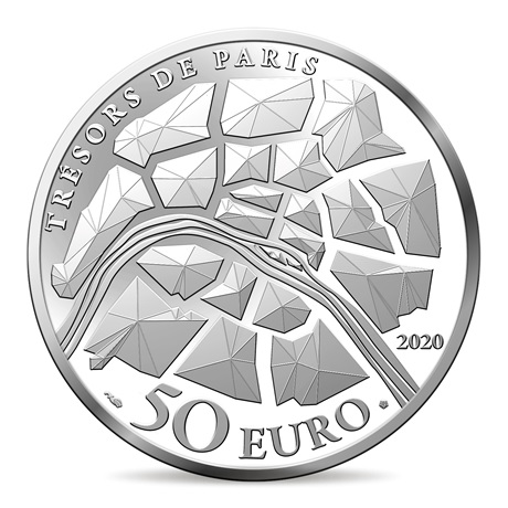 (EUR07.ComBU&BE.2020.10041344350000) 50 euro France 2020 argent BE - Champs Elysées Revers