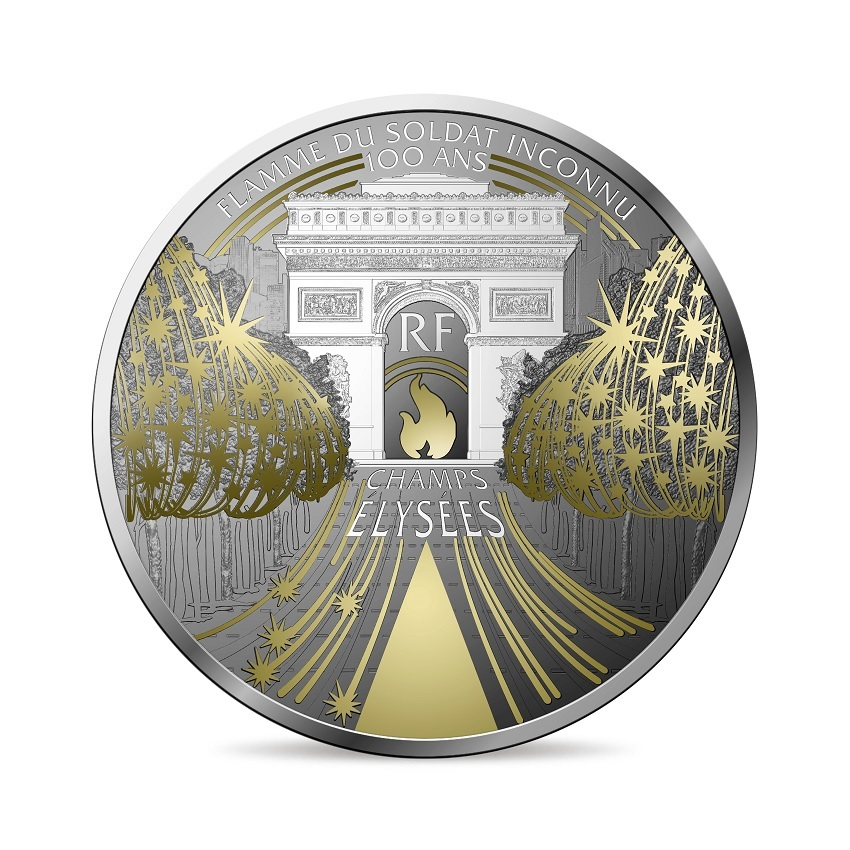 (EUR07.ComBU&BE.2020.10041344360000) 10 euro France 2020 Proof Ag - The Champs Elysées Obverse (zoom)