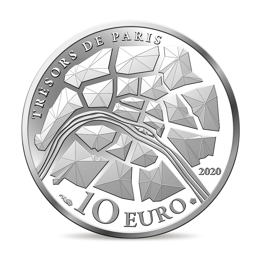 (EUR07.ComBU&BE.2020.10041344360000) 10 euro France 2020 Proof Ag - The Champs Elysées Reverse (zoom)