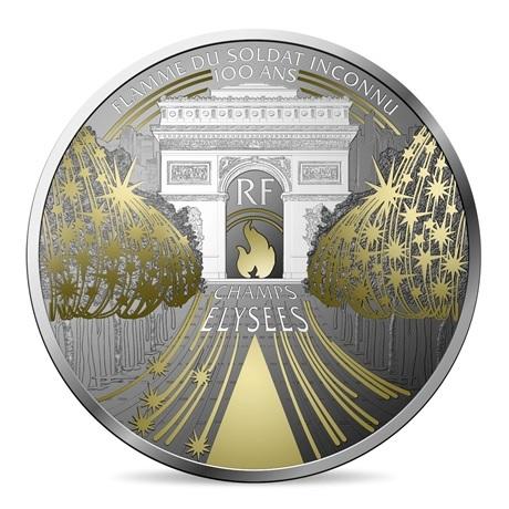 (EUR07.ComBU&BE.2020.10041344360000) 10 euro France 2020 argent BE - Champs Elysées Avers