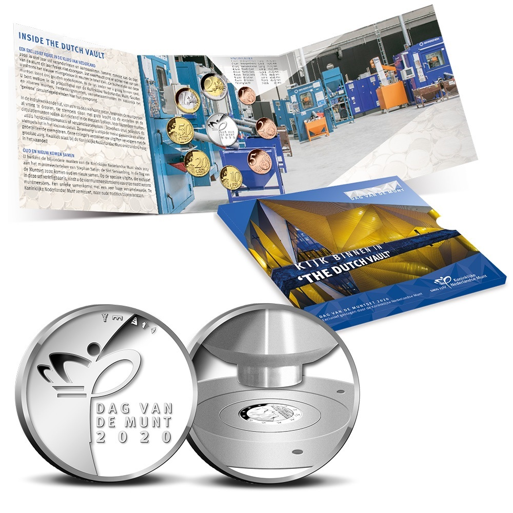(EUR14.CofBU&FDC.2020.Cof-BU.1) BU coin set Netherlands 2020 - Day of the Mint (inside) (zoom)