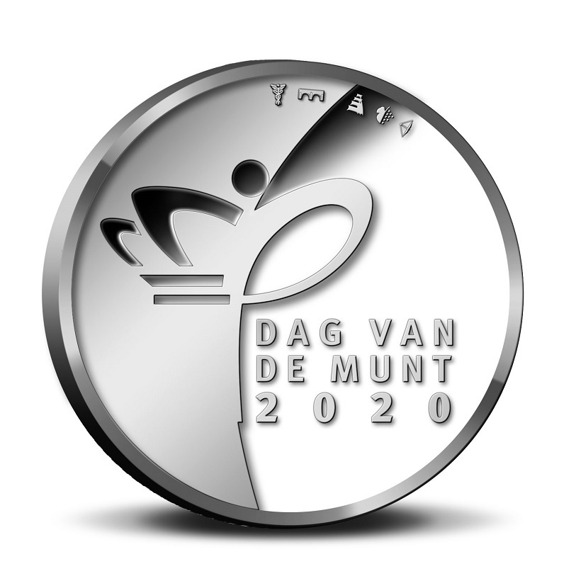 (EUR14.CofBU&FDC.2020.Cof-BU.1) BU coin set Netherlands 2020 - Day of the Mint (medal obverse) (zoom)