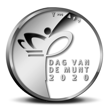 (EUR14.CofBU&FDC.2020.Cof-BU.1) Coffret BU Pays-Bas 2020 - Jour de la Monnaie (avers médaille)